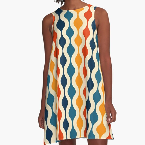 Groovy 70's pattern A-Line Dress