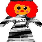Jailhouse Rock Rag Doll by Deborah Lazarus
