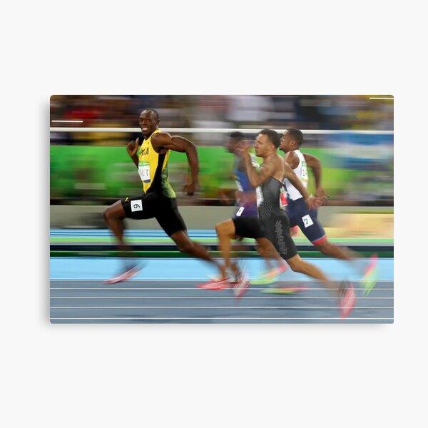 Usain Bolt winning Metal Print
