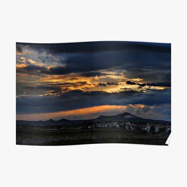 Sunset in Cappadocia Poster
