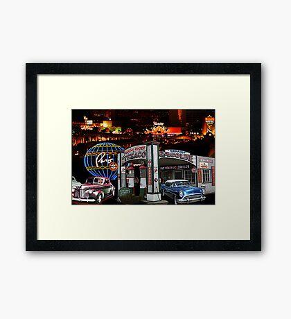 Vegas Texaco Framed Print