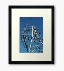 """Tension Tower and Platform c/w Hydraulic Pump"" Framed Print"
