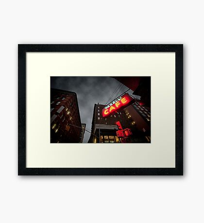 Café in New York Framed Print