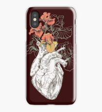 drawing Human heart with flowers iPhone XS Case