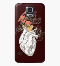 drawing Human heart with flowers Case/Skin for Samsung Galaxy