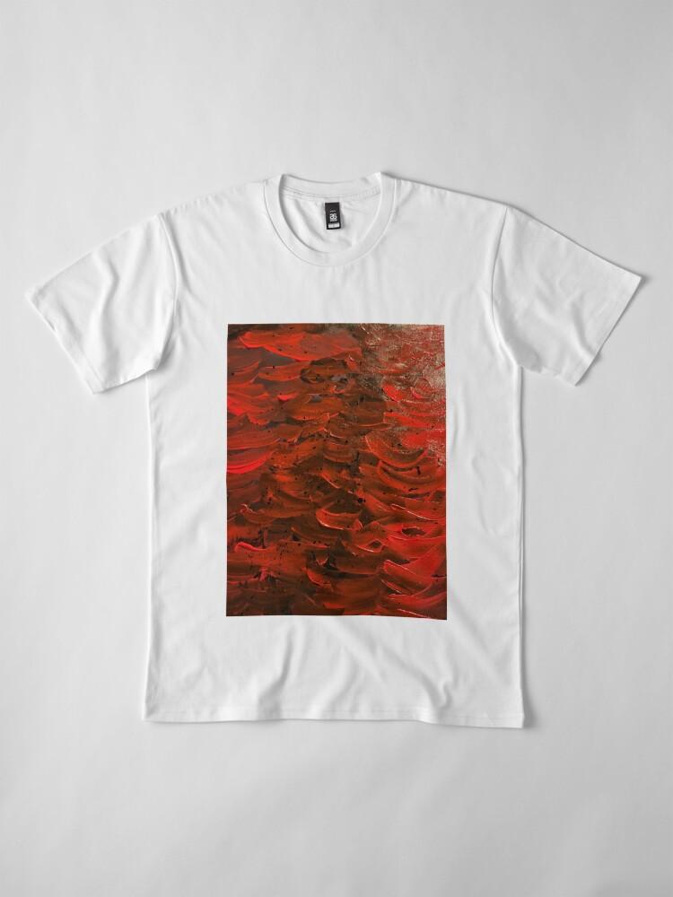 Alternate view of Red Hot Waves Premium T-Shirt