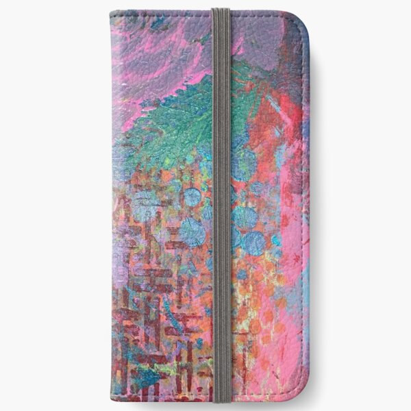 I Bloom in Stormy Weather  iPhone Wallet