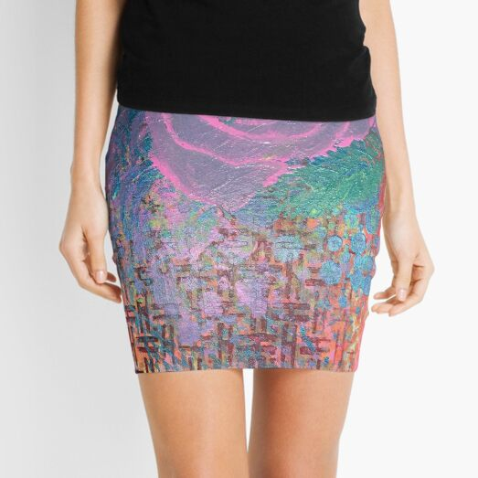 I Bloom in Stormy Weather  Mini Skirt
