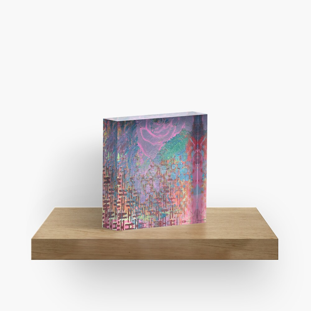 I Bloom in Stormy Weather  Acrylic Block