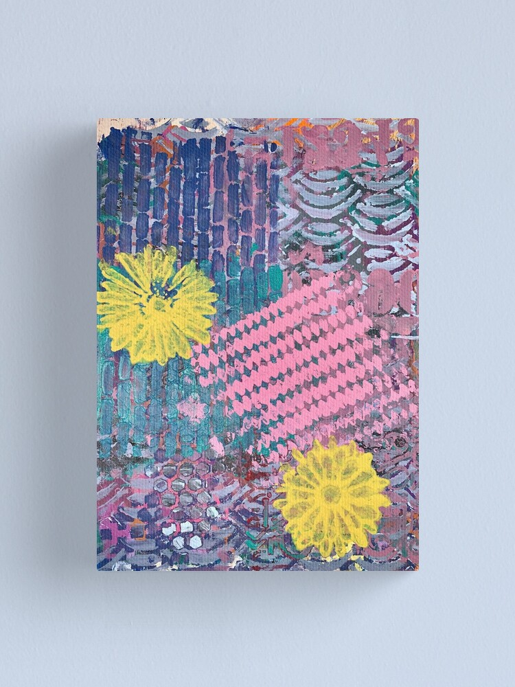 Alternate view of Yellow Flowers in Pink and Purple Fields  Canvas Print