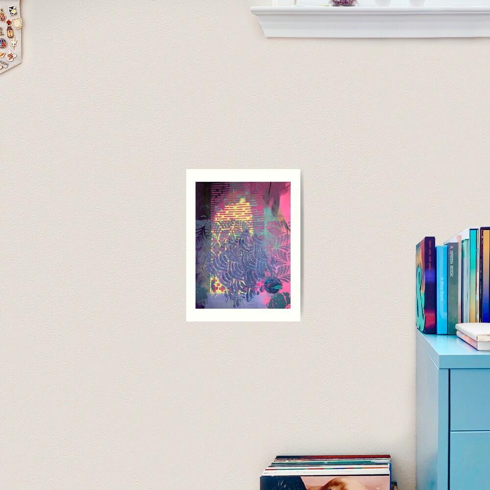 The Purple Palm Tree Art Print