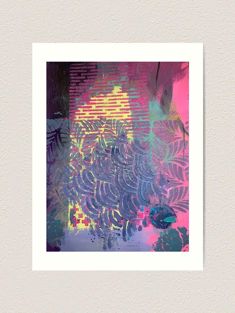 Alternate view of The Purple Palm Tree Art Print