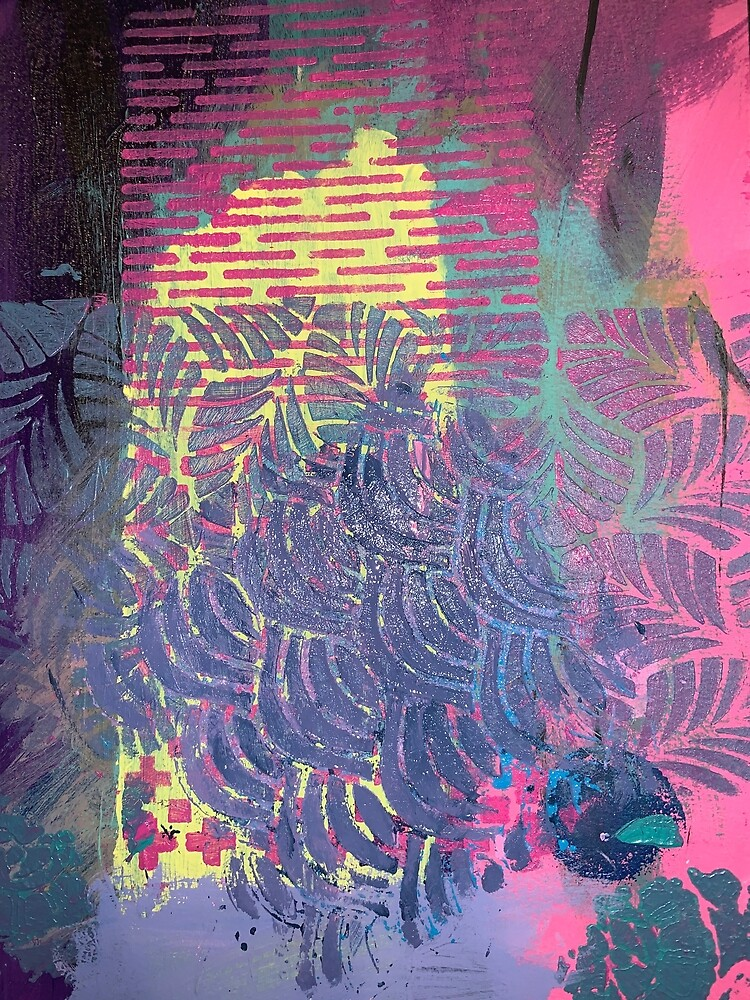 The Purple Palm Tree by Margaretmilrose