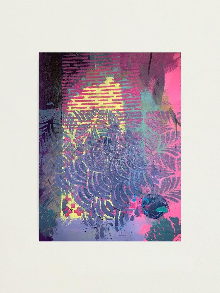 Alternate view of The Purple Palm Tree Photographic Print