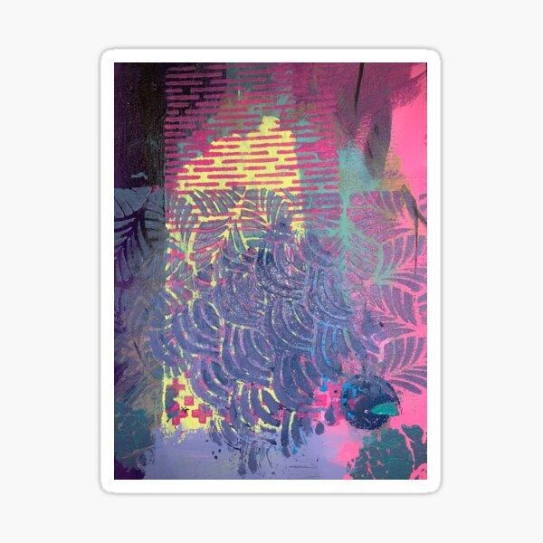 The Purple Palm Tree Sticker