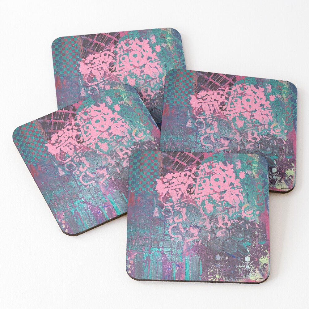 Grungy Pink Princess   Coasters (Set of 4)