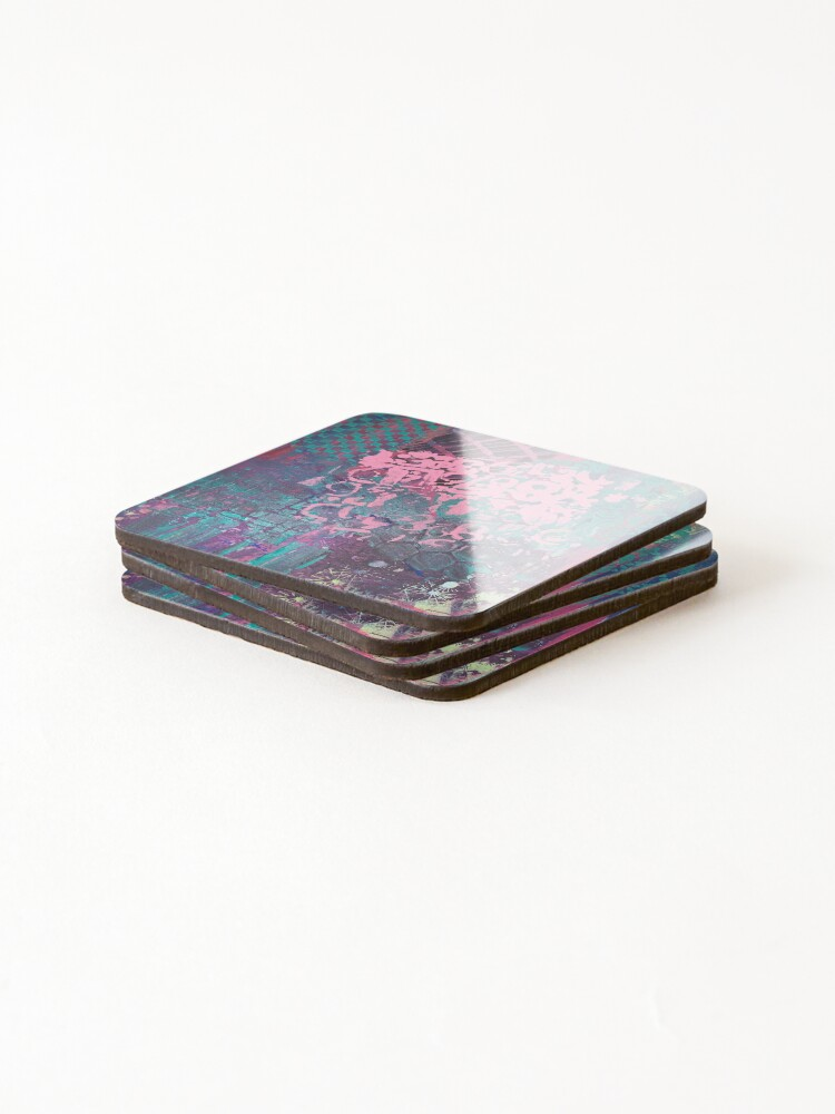 Alternate view of Grungy Pink Princess   Coasters (Set of 4)