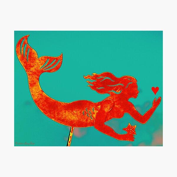 Crimson Mermaid Photographic Print