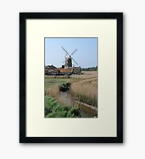 Cley Windmill and the River Glaven Framed Print