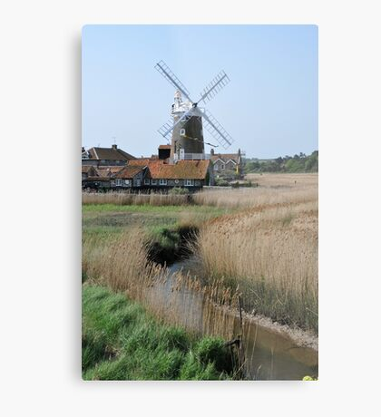 Cley Windmill and the River Glaven Metal Print
