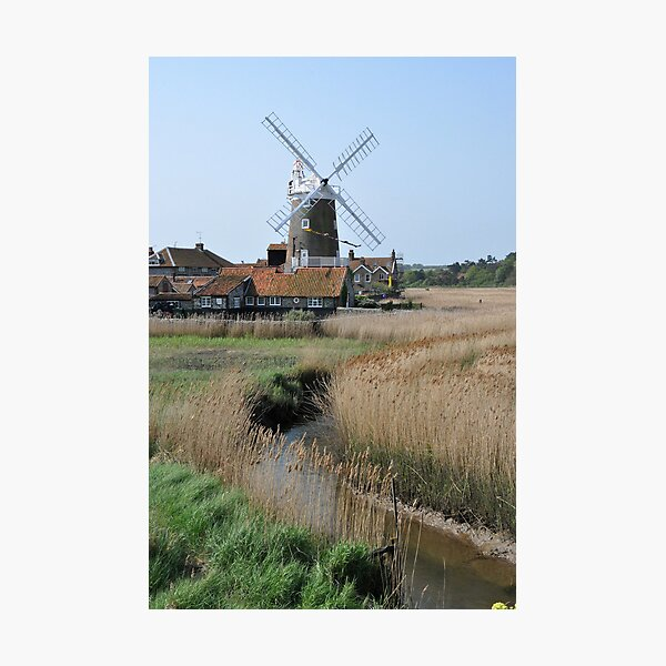 Cley Windmill and the River Glaven Photographic Print