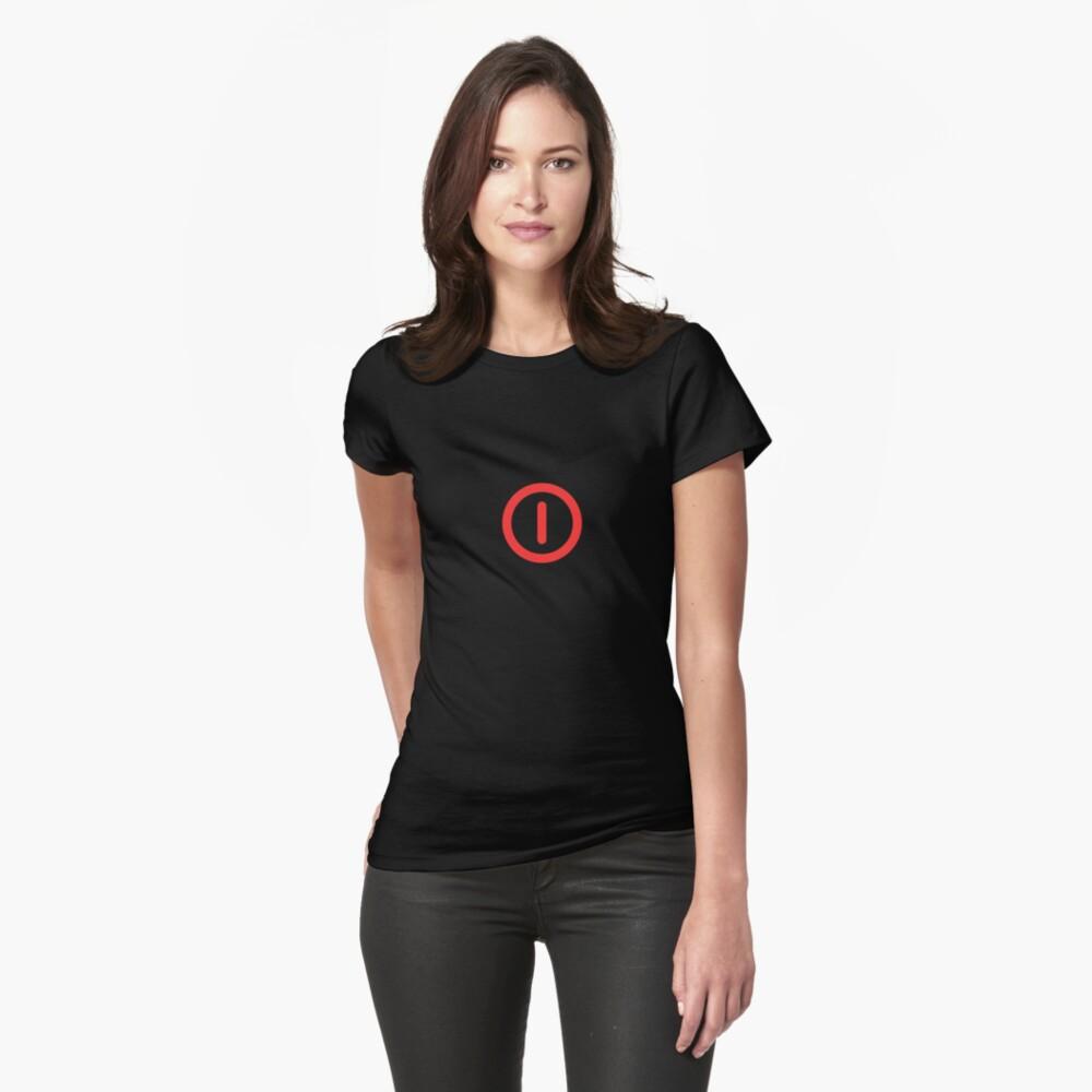 Power Off! Womens T-Shirt Front