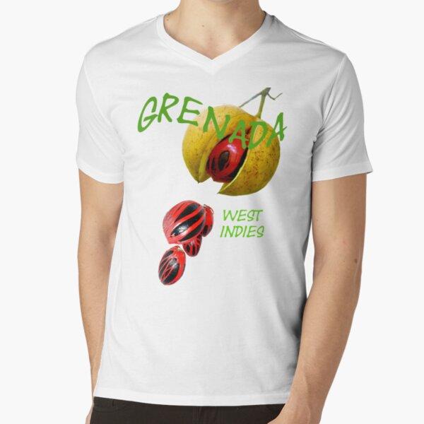 Nutmeg, Grenada, West Indies V-Neck T-Shirt