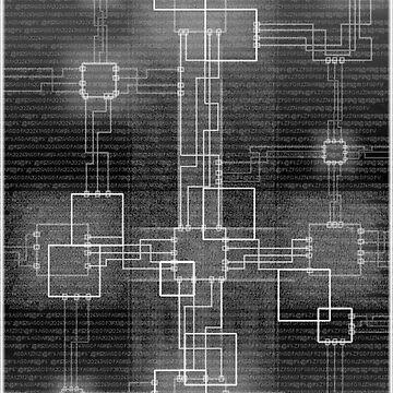 Binary Crucifixion by Skeane