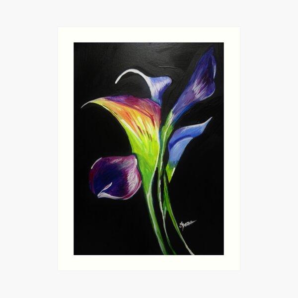 COLOR LILIES Art Print