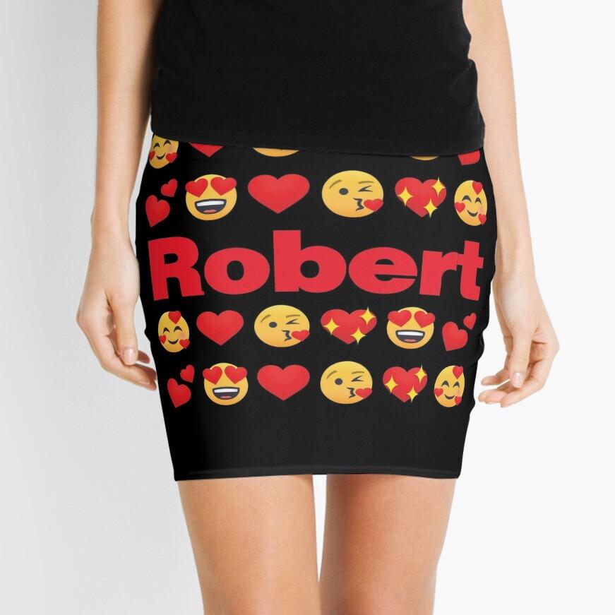 Robert Emoji My Love for Valentines day Mini Skirt