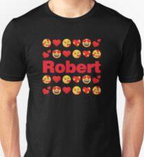 Robert Emoji My Love for Valentines day Slim Fit T-Shirt