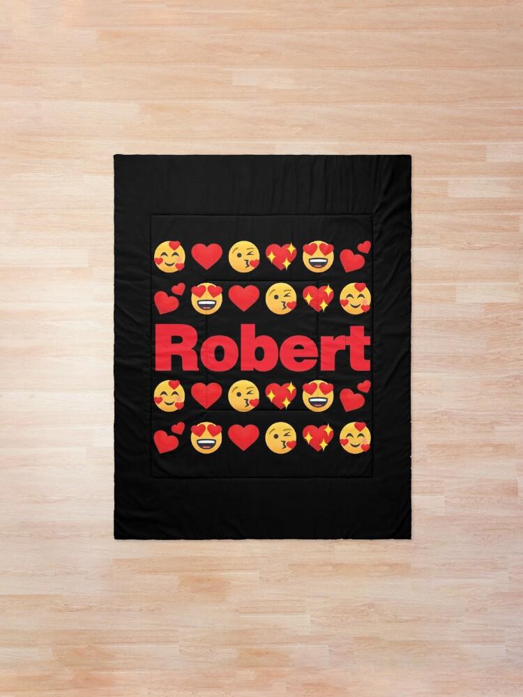 Alternate view of Robert Emoji My Love for Valentines day Comforter