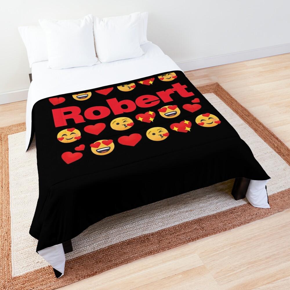 Robert Emoji My Love for Valentines day Comforter