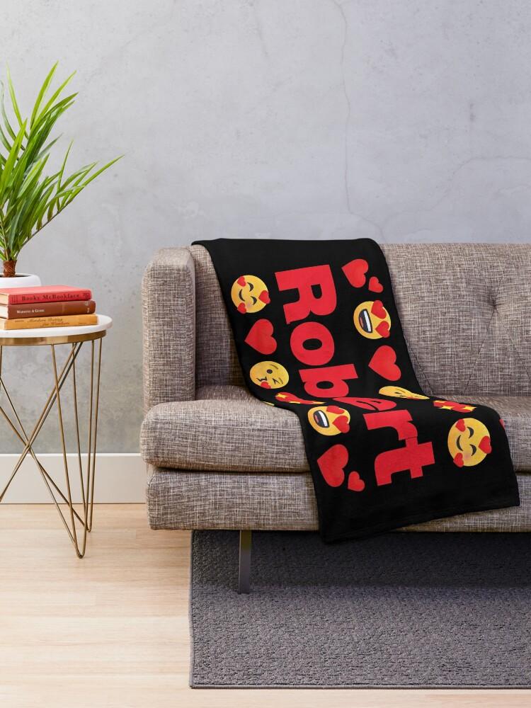 Alternate view of Robert Emoji My Love for Valentines day Throw Blanket