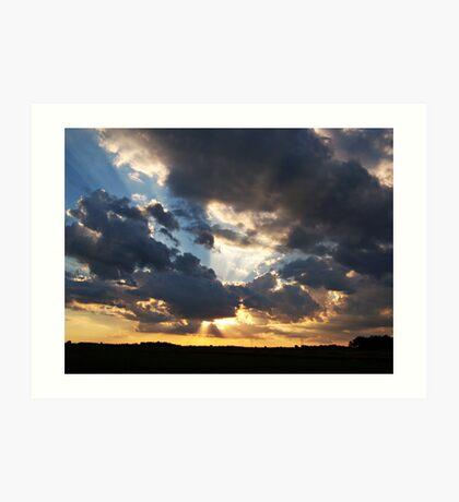 Heavenly Rays Art Print