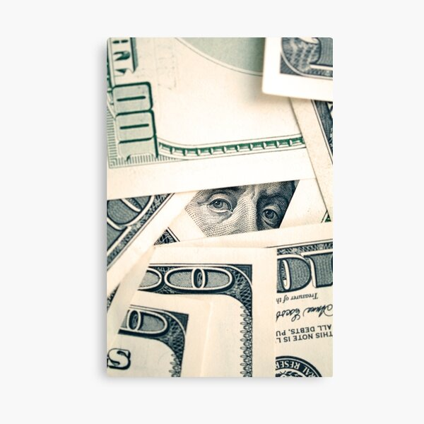 Benjamin Franklin eyes Canvas Print