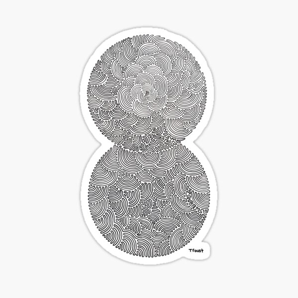 One Line Drawing  Sticker
