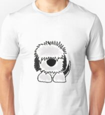Funny Old English Sheepdog Original Art Unisex T-Shirt