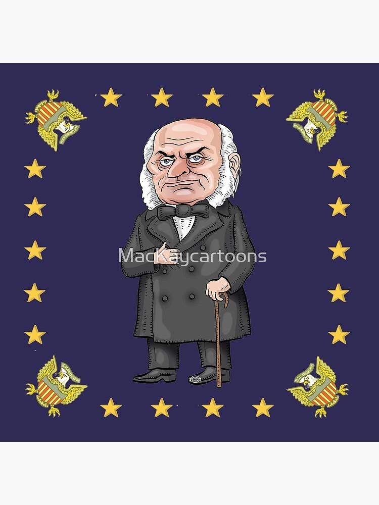 President John Quincy Adams by MacKaycartoons