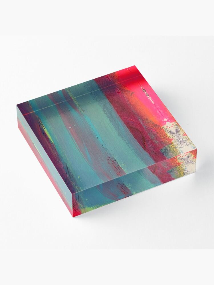 Alternate view of Neon Stripes  Acrylic Block