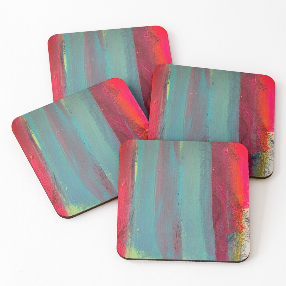 Neon Stripes  Coasters (Set of 4)