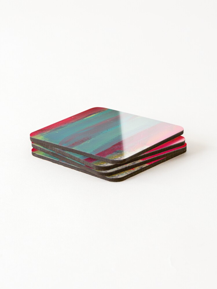Alternate view of Neon Stripes  Coasters (Set of 4)