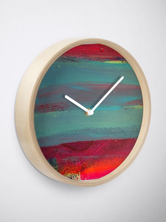 Alternate view of Neon Stripes  Clock