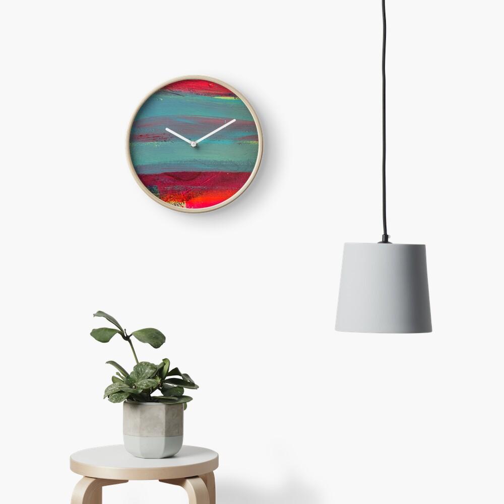 Neon Stripes  Clock