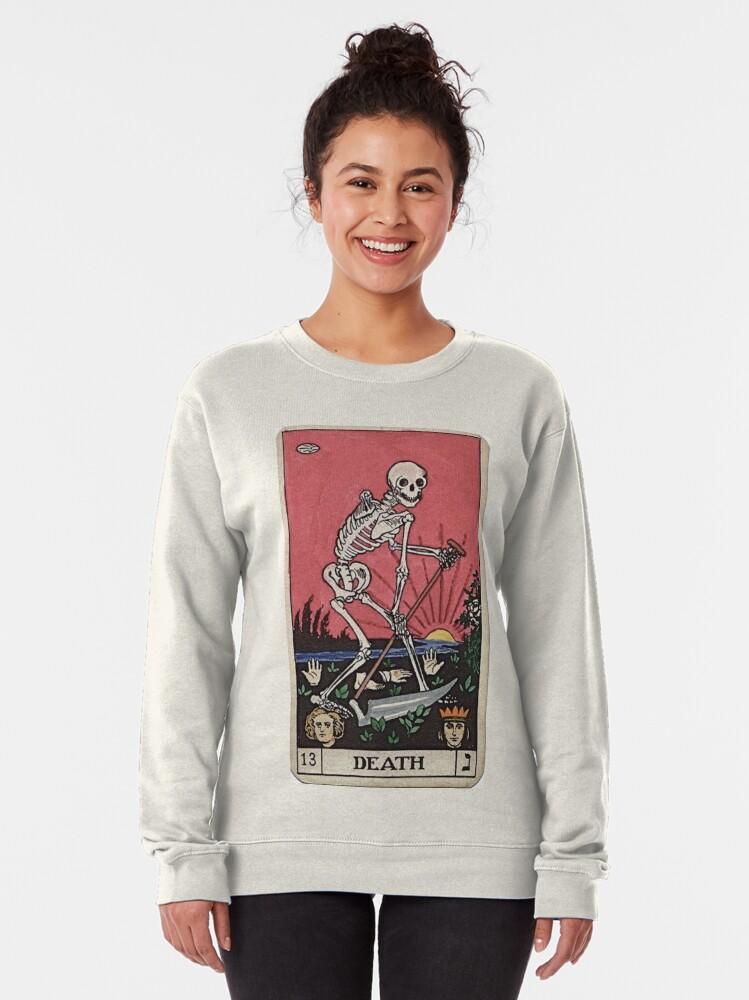 Alternate view of Death Tarot Pullover Sweatshirt