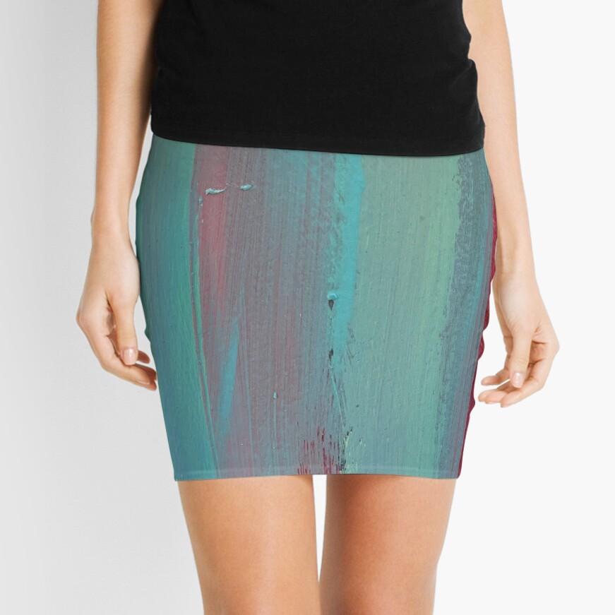 Neon Stripes  Mini Skirt