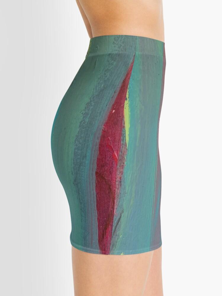 Alternate view of Neon Stripes  Mini Skirt