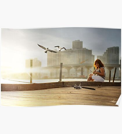reflecting in silence  Poster
