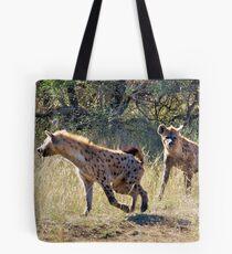 HYAENA ON THE HUNT - Spotted Hyaena - Crocuta crocuta Tote Bag