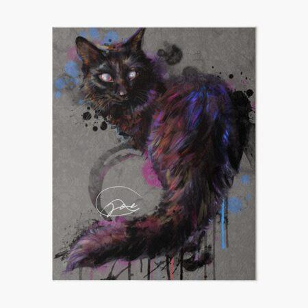 Project Caturday - Maleficent Art Board Print